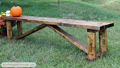 $15 DIY Rustic Wood Bench
