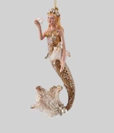 """Katherine's Collection Coastal Celebrations Collection Six Assort 6"""" Mermaid Dangle Ornaments Free Ship"""