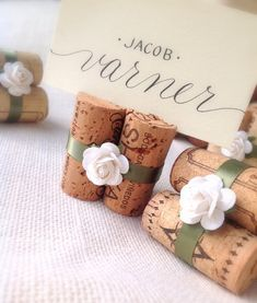 white u0026 sage wedding place card holders set of 10 wine corks for wedding reception or bridal shower