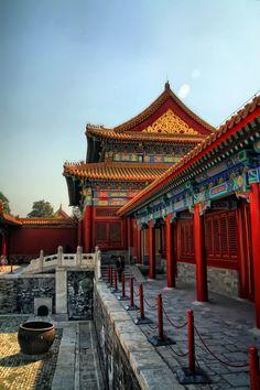Veranda in Beijing forbidden city, built during early Ming Dynasty (1368 - 1644)