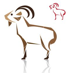 Goat vector 1313608 - by yod67 on VectorStock®