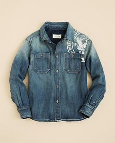 Diesel Boys' Calton Denim Shirt - Sizes 4-16 on shopstyle.com