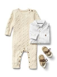 Baby Gap cable knit romper
