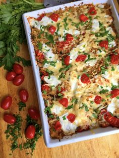 Eggplant Parmesan Casserole with Cauliflower Rice (Vegetarian or Vegan) – Delightful-Delicious-Delovely Vegetarian Italian Recipes, Vegan Vegetarian, Vegan Eggplant Parmesan, Vegetarian Casserole, No Carb Recipes, Cauliflower Rice, Vegetable Pizza, Main Dishes, Sausage