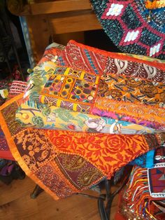 Beautiful Guatemalan fabrics as table runners or bedspreads and tablecloths. Old Town San Diego.