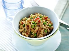 Possurisotto - Reseptit Easy Cooking, Fried Rice, Risotto, Grains, Healthy Recipes, Healthy Food, Ethnic Recipes, Koti, Red Peppers