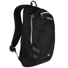 Regatta Brize II 20L Black/LightSteel ruksak | Regatta Sleeping Tent, Zip Puller, North Face Backpack, Unisex, Cloth Bags, Sling Backpack, Aqua, Backpacks, Steel
