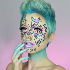 "19.8k Likes, 225 Comments - KIMBERLEYMARGARITACOLOURCREEP (@kimberleymargarita_) on Instagram: ""Fragmented If you wanna work on your line work just do a look like this, it had me sweatin …"""