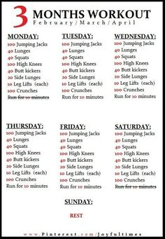 Exercise / 3 month workout plan on imgfave