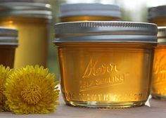 Dandelion Jelly .. the recipe is at:  http://www.simplycanning.com/dandelion-jelly.html