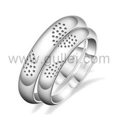 Sterling Silver Heart Shaped Rings Set with Custom Names