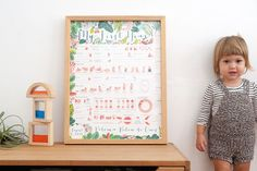 Check out the My First Year poster by Strange Birdy, a great option in alternative baby books.