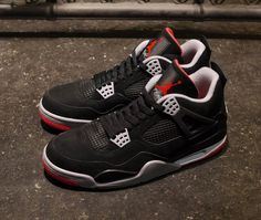 big sale 76ee8 95e60 Air Jordan 4 BlackRed Air Jordan 4 Bred, Air Jordan Iv, Jordan