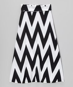 Look what I found on #zulily! Black & White Zigzag Maxi Skirt by Lori & Jane #zulilyfinds