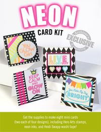 Exclusive Neon Card Kit