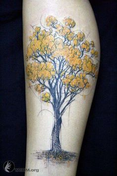 Tree on Leg Tattoos - Tattoo Shortlist