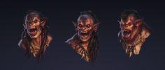 ArtStation - Orcs_head, Alexander Shatohin