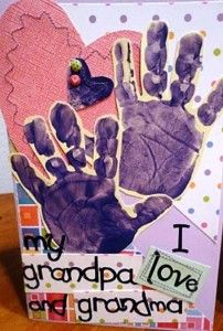 Grandparents Day handprint card