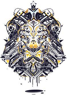 lion by Yo Az, via Behance