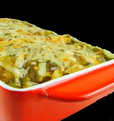 Chicken Enchiladas Verde~    Different from my recipe but sounds good. Worth a try.