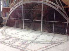 Meticulous hand restoration of decorative leaded glass windows.