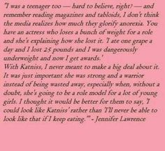 Amazing ~ Jennifer Lawrence quote