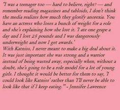 Amazing ~ Jennifer Lawrence quote