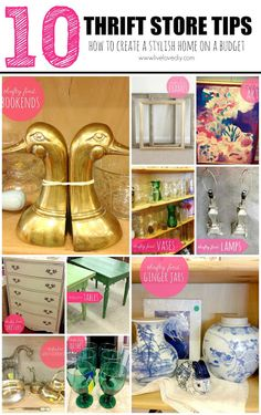 Charming 10 Thrift Store Shopping Tips: How To Decorate On A Budget! Great Ideas For  Creating A Stylish Home On A Small Budget. 10 Thrift Store Shopping Tips:  How To ... Awesome Ideas
