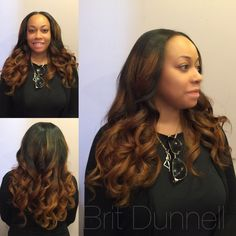 Lovely Ombré in a copper brown
