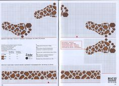 Cross-stitch Giraffe Printed Footprints...    Sandrinha Ponto Cruz: Barrados toalhas