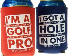 Golf Beer Koozies. spenditonthis.com