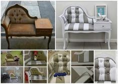 Furniture Makeover! Queen Anne Settee Makeover | http://diyready.com/35-ways-to-transform-your-old-furniture/