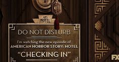 "American Horror Story Hotel ""Lights on or off? #AHSHotel starts in 30 minutes."""