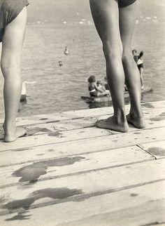 Aufnahme aus dem Lido in Ascona von ca. 1930.  László Moholy-Nagy. Es hat sich (zum Glück) fast nichts veränert.