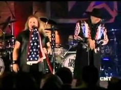 LYNYRD SKYNYRD & MONTGOMERY GENTRY ~ Red, White & Blue. Great song.