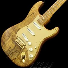 Fender Custom Shop 2016 Limited Model Spalted Maple Artisan Stratocaster Natural w/Gold Anodized PG