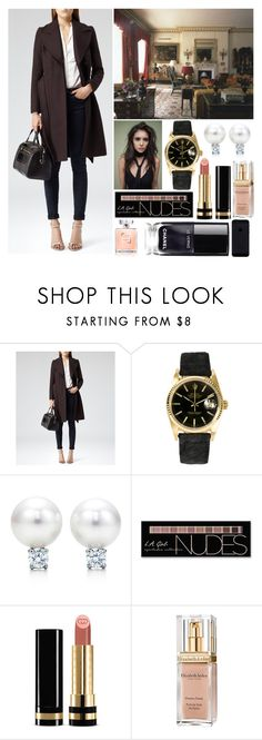 """""""Meeting with The Queen at Clarence House."""" by duchessamparo ❤ liked on Polyvore featuring Reiss, Rolex, Charlotte Russe, Gucci and Elizabeth Arden"""