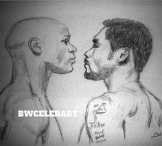 MAYWEATHER VS PACQUIAO/BOXING/CELEBRITY/REALISM/GRAPHITE DRAWING BY ARTIST #Realism Graphite Drawings, Pencil Drawings, Art Drawings, Pacquiao Vs, Manny Pacquiao, Sports Drawings, Floyd Mayweather, Boxing, Funny Pictures