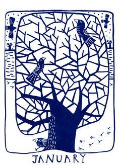 Twelve months twelve trees_ January by Mina Braun