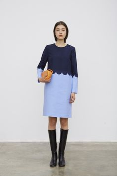 Marimekko Dress / Blue + Navy / Scandi