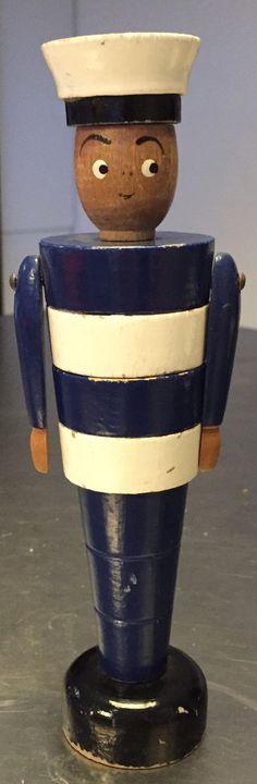 Danish vintage mid century wooden seaman toy by Deerstedt on Etsy
