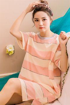 Factory Wholesale Nightgowns   Sleepshirts Women Summer Bathrobe Sleepwear  Sexy Mother Loose Plus size Nightdress 834e58745