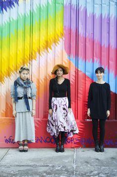 Our designers: Harmony Pilobello, Shilpa Iyengar, and Hanh Lam