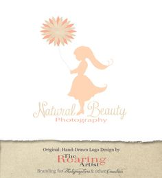 Natural Beauty Premade Logo Design for Photographer or Other Creative Small Business or Children's Boutique - Will NOT Be Resold