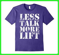 Mens Less Talk More Lift - Gym Fitness Inspiration T-Shirt 2XL Purple - Workout shirts (*Amazon Partner-Link)