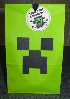 Room Mom Extraordinaire: Minecraft Birthday Party - favors