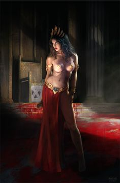 Queen of Vampires 3 by Christos-Martinis.deviantart.com on @DeviantArt. I like the colors, and the background and atmosphere are awesome.