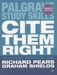 Cover image for Cite them right : the essential referencing guide