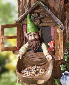 Collections Etc. Collections Etc. Bird House Feeder, Bird Feeders, Frida Art, Decorated Flower Pots, Fairy Tree, Gnome House, Collections Etc, Gnome Garden, Miniature Fairy Gardens
