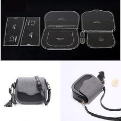 Details about Leather Craft Clear Acrylic shoulder bag handbag Pattern Stencil Template – Leather Style Leather Diy Crafts, Leather Gifts, Leather Bags Handmade, Leather Projects, Handmade Bags, Leather Craft, Handmade Products, Leather Purses, Leather Handbags